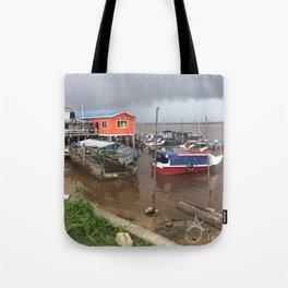 Murky Pier in South America Tote Bag