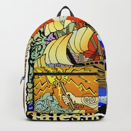Tales of the Trident:Poseidon with Title Backpack