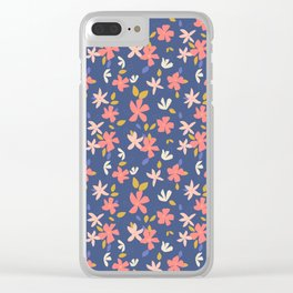 Dancing Florals Clear iPhone Case