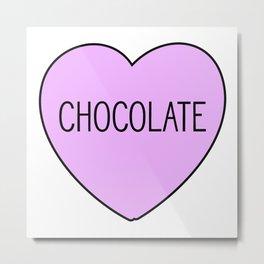Chocolate Heart Metal Print