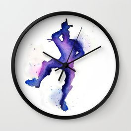 Take the L Watercolor Silhouette Wall Clock