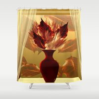 camus Shower Curtains featuring Welcoming autumn  by Giada Rossi