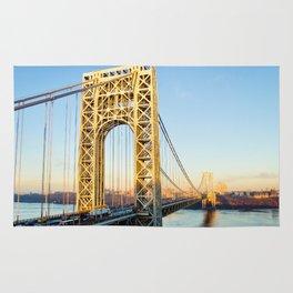 George Washington Bridge Sunset Rug