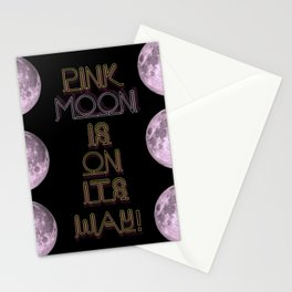 pink moon. Stationery Cards
