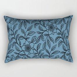 Vintage Lace Floral Niagara Rectangular Pillow