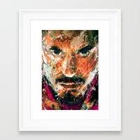 tony stark Framed Art Prints featuring TONY STARK by DITO SUGITO