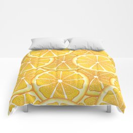 Juicy orange slices, citrus fruit slices Comforters