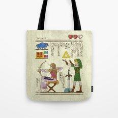 hero-glyphics: Hyrule History Tote Bag