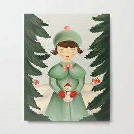 Julia's Snowman Metal Print