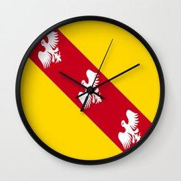 flag of lorraine Wall Clock