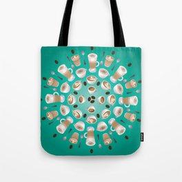 Coffee Kaleidoscope Tote Bag