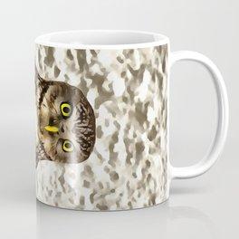 Small Owl In Camouflage Coffee Mug