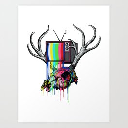 COLORS TV Art Print