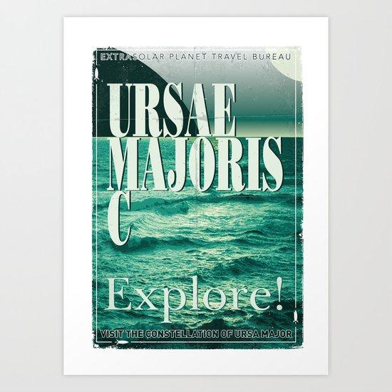 My Exoplanetary Travel Poster: Ursae Majoris C Art Print