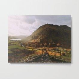 Snowdon look out Metal Print