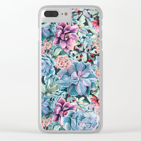 Succulents - For the Memory of a Never-ending Love Clear iPhone Case