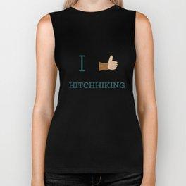 I heart Hitchhiking Biker Tank