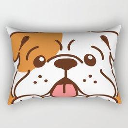 Adorable English Bulldog front head Rectangular Pillow