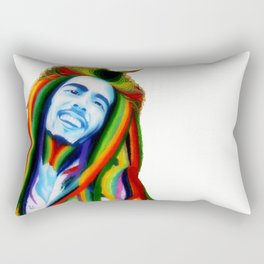 BobMarley Color Gradient Rectangular Pillow
