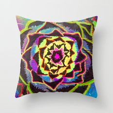 Organic Mandala Throw Pillow