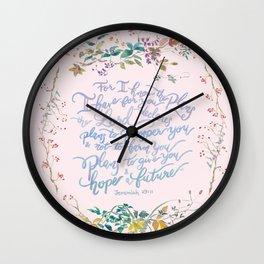 Give You Hope - Jeremiah 29:11 Wall Clock