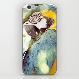 Magical Parrot - Guacamaya Variopinta - Magical Realism iPhone Skin