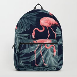 Summer Flamingo Jungle Night Vibes #1 #tropical #decor #art #society6 Backpack