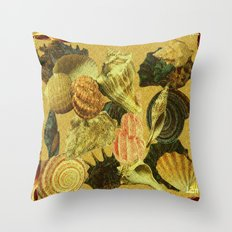 Shells of Sound Throw Pillow