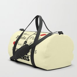 Paris text design illustration 2 Duffle Bag