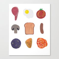 Full English Canvas Print
