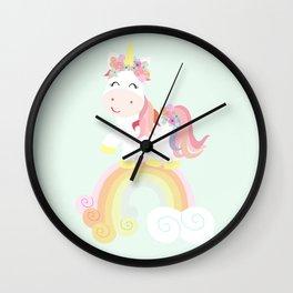 Unicorn and rainbow Wall Clock