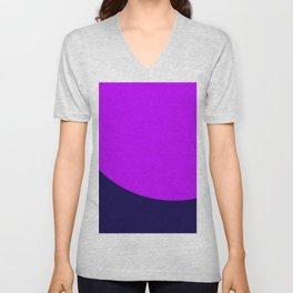 Deep Blue and Purple. Color combinations. Unisex V-Neck