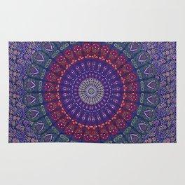 Blue Mandala Hippie Design Rug