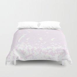 Delicate Love Rose Pink Glitter Design Duvet Cover