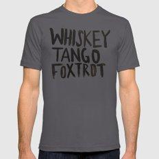 Whiskey Tango Foxtrot LARGE Asphalt Mens Fitted Tee