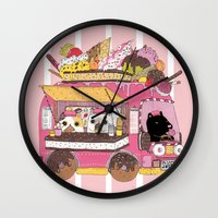 icecream Wall Clocks featuring IceCream Truck by ShangheeShin
