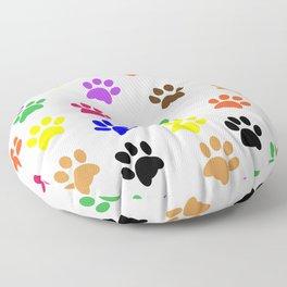Paw print design Floor Pillow