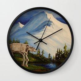 At At Mt Baker Mountain Wall Clock