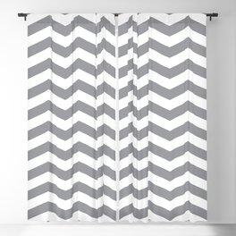 Grey Chevron Pattern Blackout Curtain