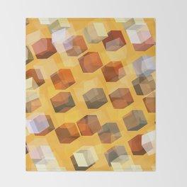 transparent cubes Throw Blanket