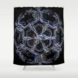 Water as a Crystal, pattern snowflake art on leggings and more! Shower Curtain
