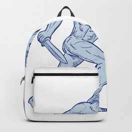 Hercules With Shield and Sword Drawing Backpack
