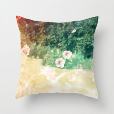 A place of flowers Throw Pillow