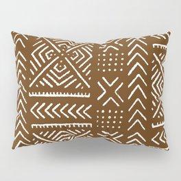 Line Mud Cloth // Brown Pillow Sham