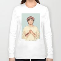 coconutwishes Long Sleeve T-shirts featuring Tommo Flower crown by Coconut Wishes
