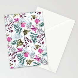 Swans and Magnolias Stationery Cards