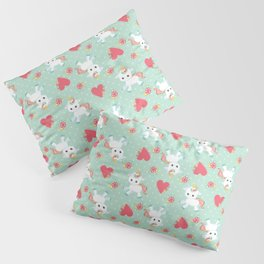 Baby Unicorn with Hearts Pillow Sham