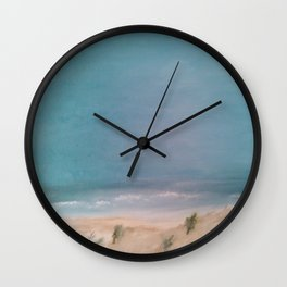 Approaching Storm on the Lake Wall Clock