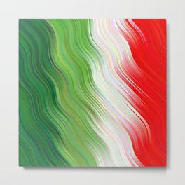 Green, Star White And Red Clover Broken Ombre Metal Print