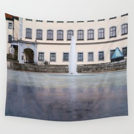 Castle fountain Wall Tapestry